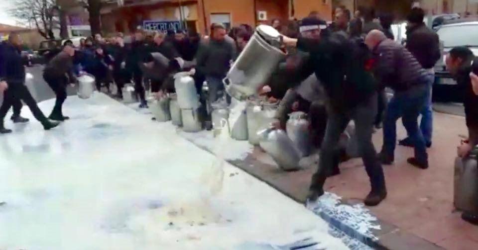 Sardegna: protesta dei pastori per il crollo del prezzo del latte