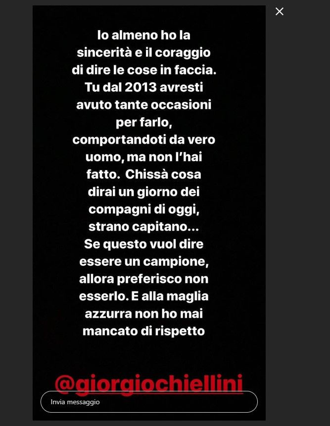risposta balotelli a chiellini instagram