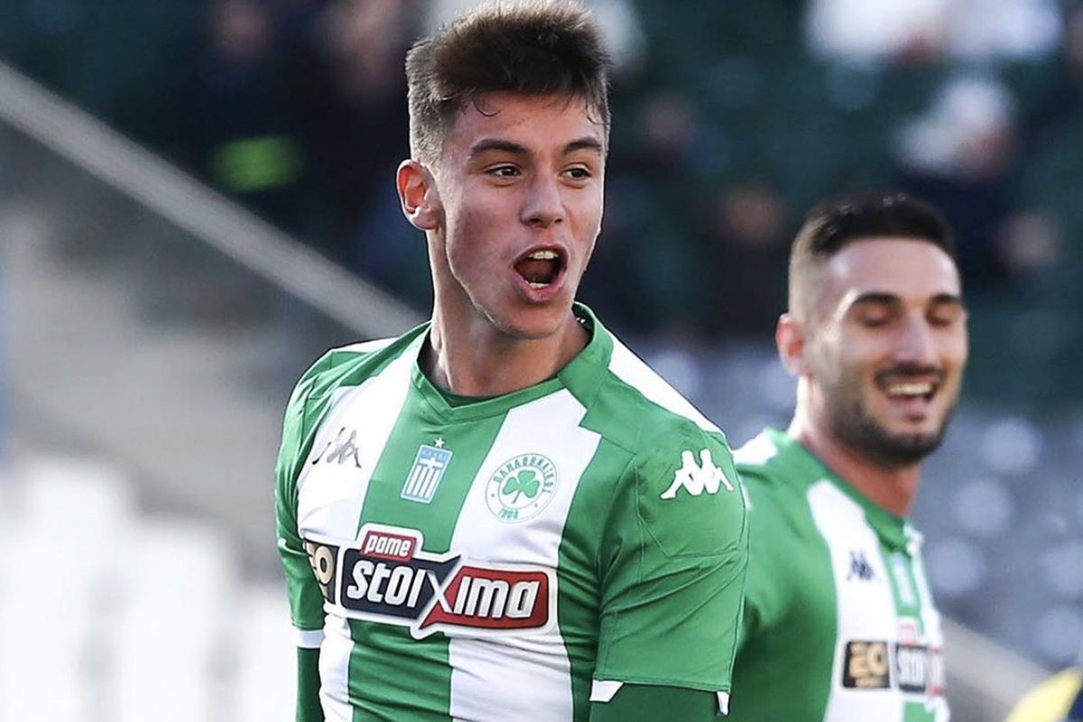 Il nuovo calciatore dell'Inter Georgios Vagiannidis
