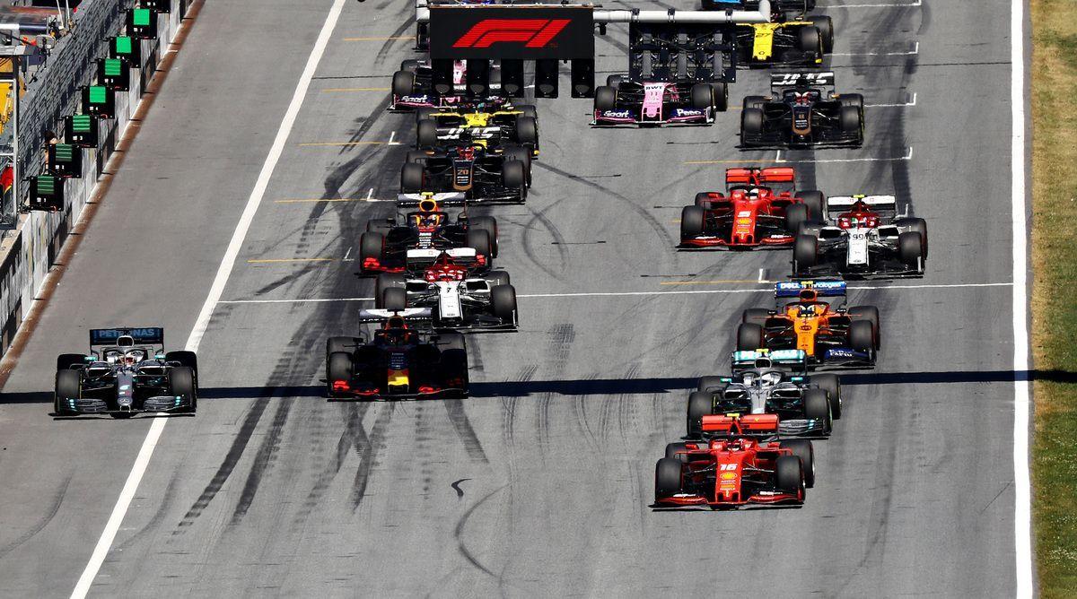 la partenza del GP d'Austria