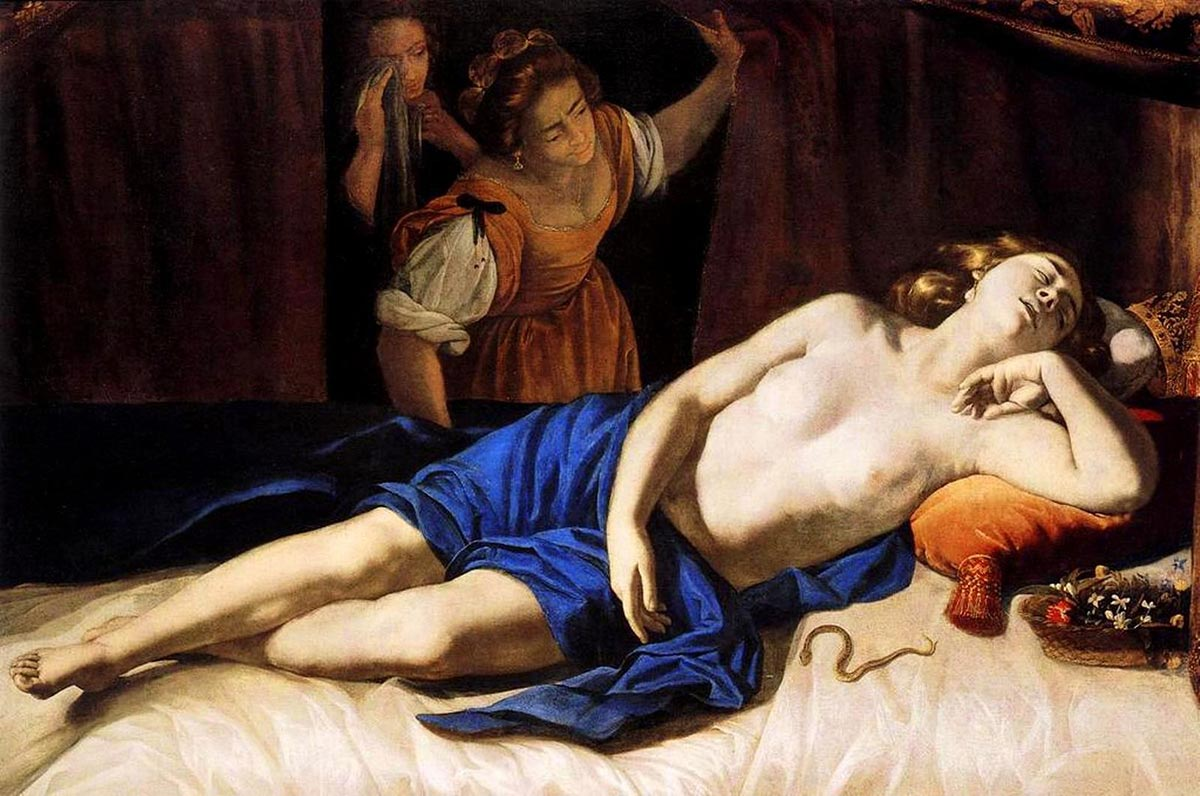 Cleopatra, dipinto di Artemisia Gentileschi