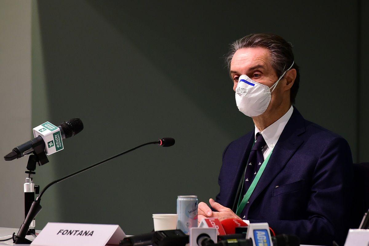 """Lombardia rossa per errore, Fontana: """"probabilmente non è colpa di nessuno"""""""