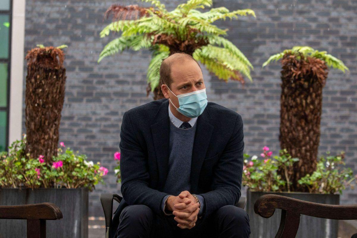 Il principe William con la mascherina, ottobre 2020