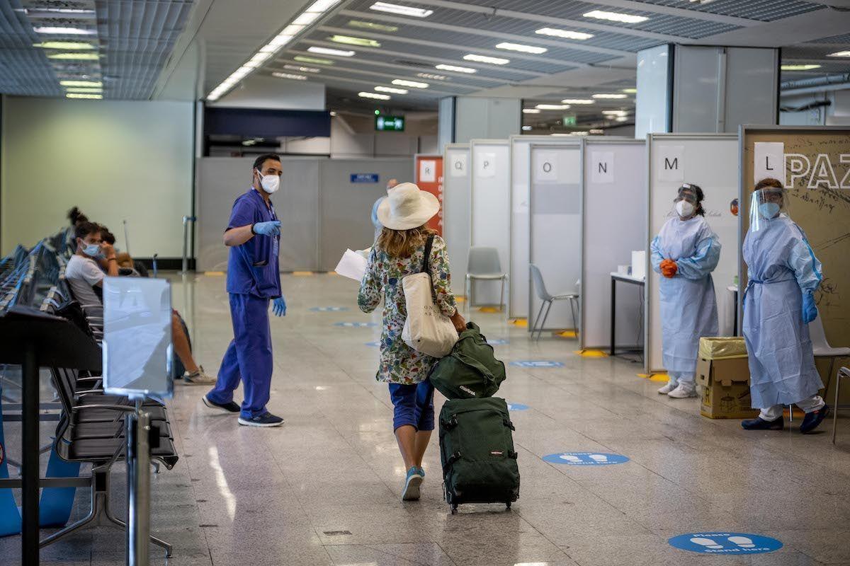 frontiere aeroporto Roma Fiumicino controlli test Covid