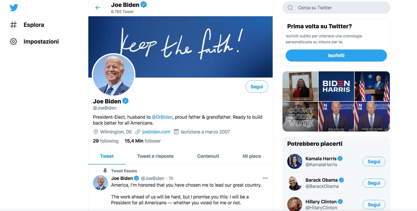 Elezioni USA 2020: le reazioni su Twitter