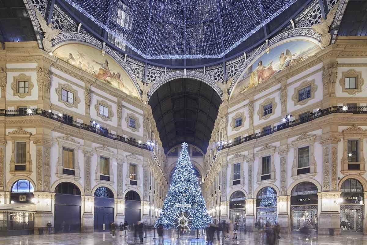albero di natale galleria vittorio emanuele milano