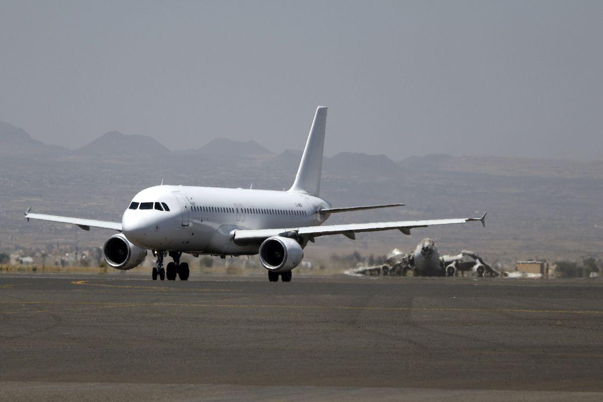 aereo pista di atterraggio aeroporto Yemen