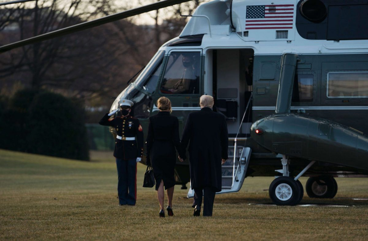 """Joe Biden celebra l'insediamento e Trump prima di lasciare la Casa Bianca dichiara: """"Ritornerò"""""""