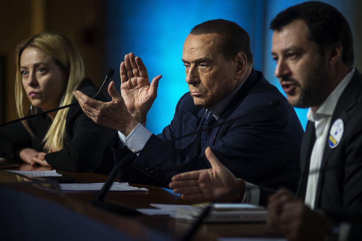 Giorgia Meloni Silvio Berlusconi Matteo Salvini Fratelli d'Italia Forza Italia lega