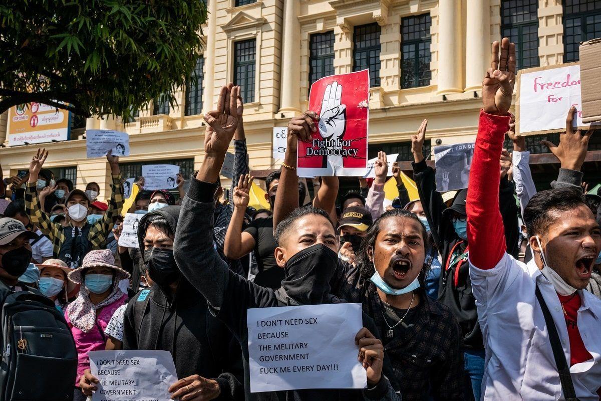 myanmar birmania proteste