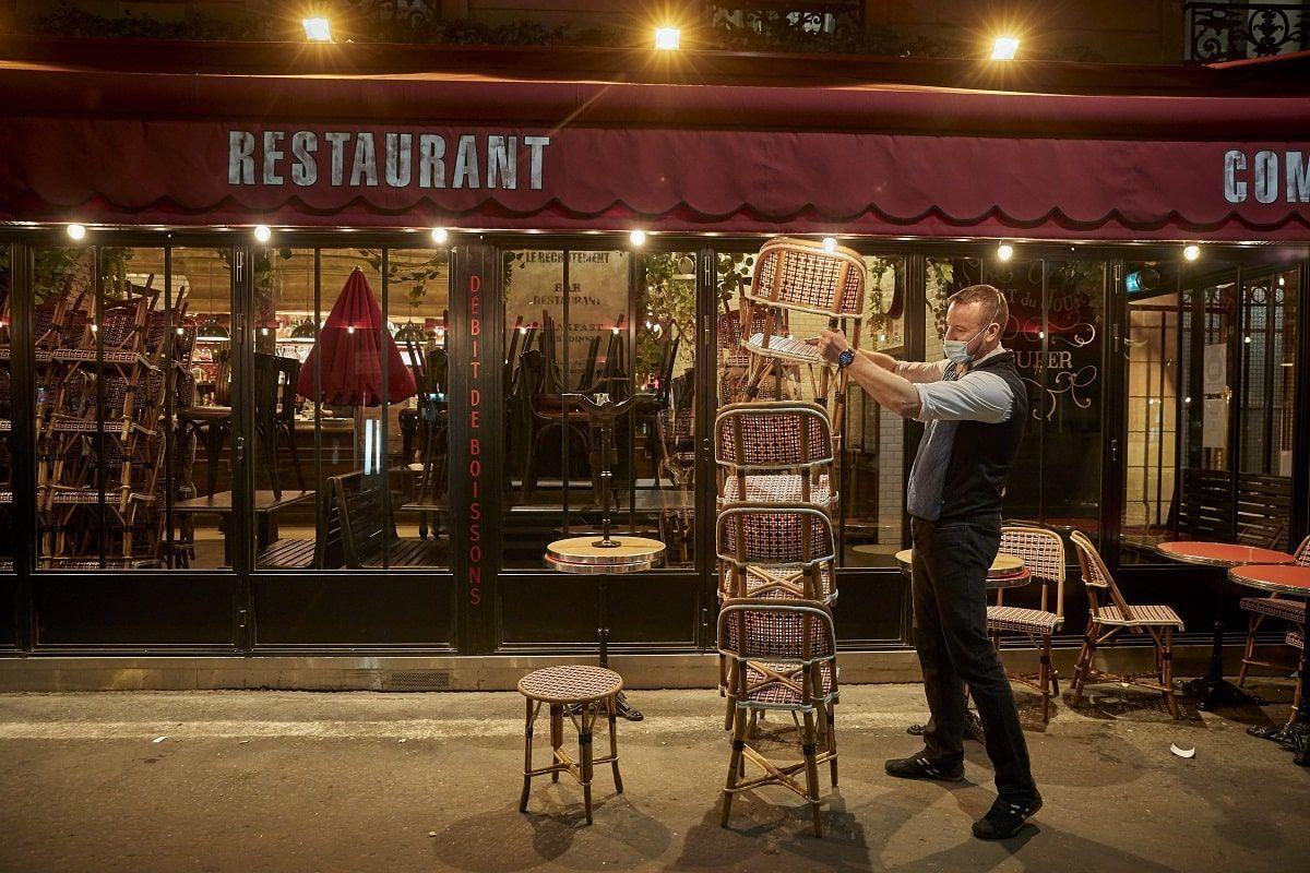 ristorante chiuso per coprifuoco