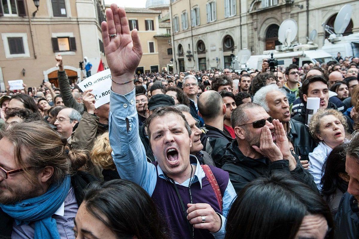 proteste montecitorio