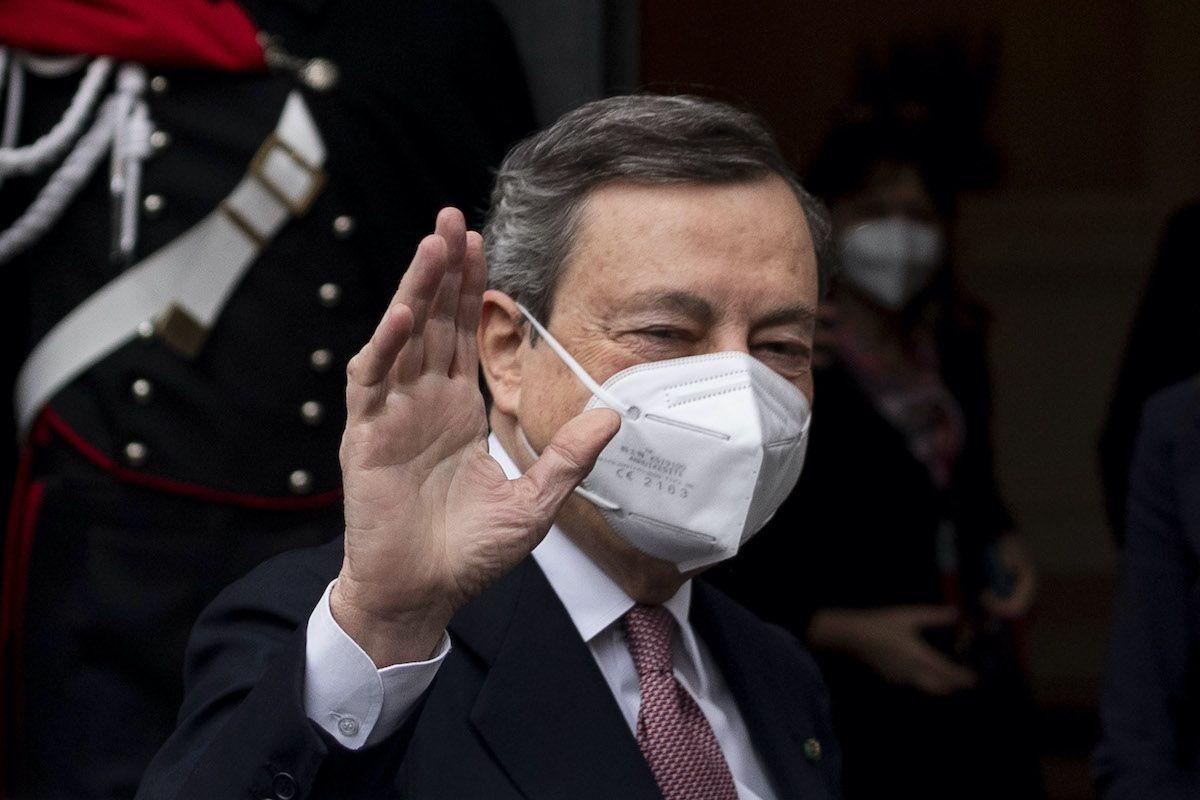 """Lincei, Draghi: """"La pandemia non è finita, ma l'economia riparte"""""""