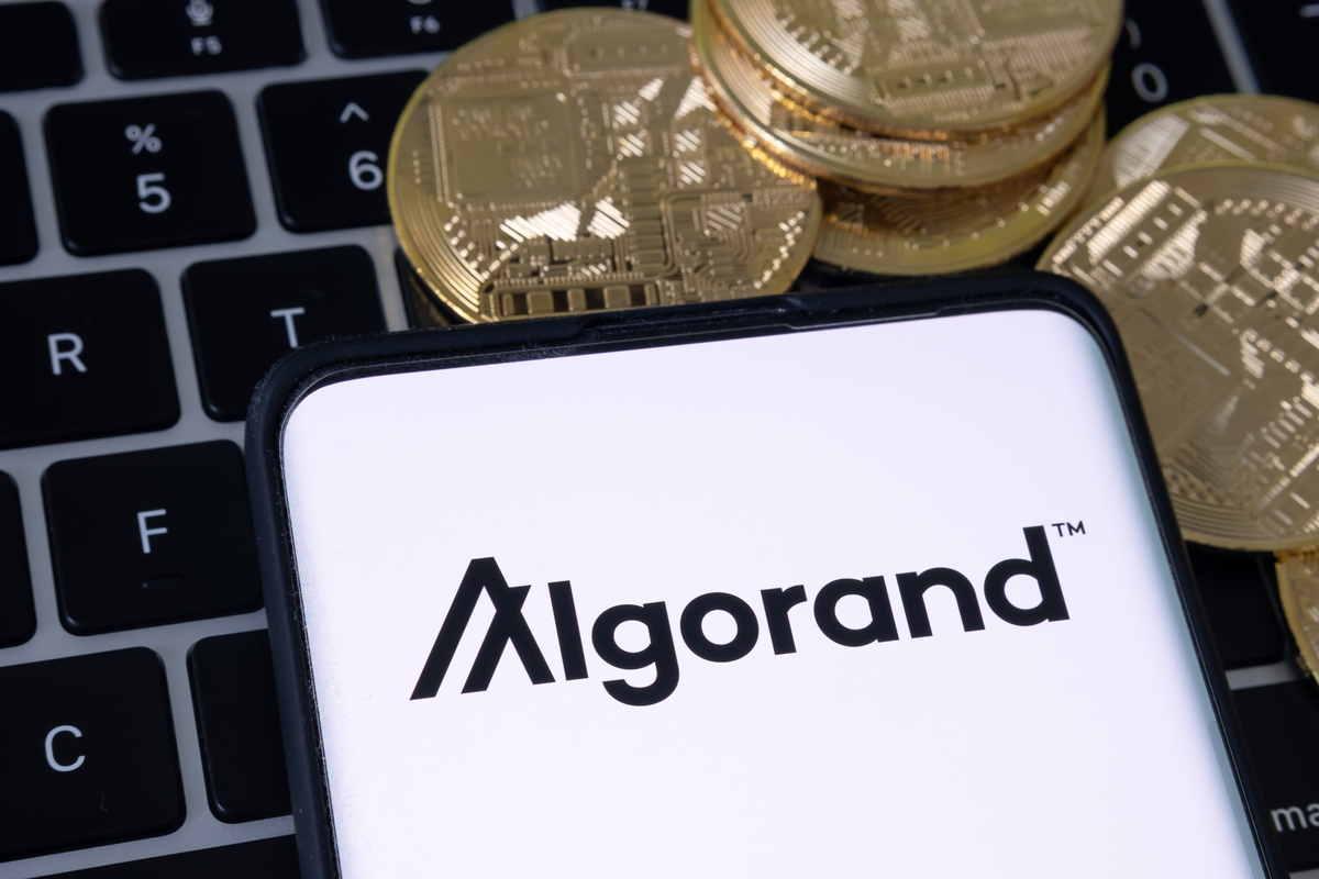 Logo della blockchain italiana Algorand