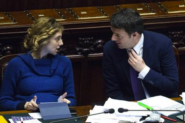 Il ministro Madia con il premier