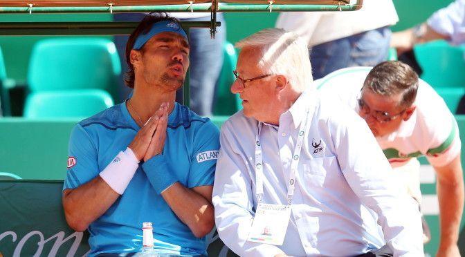 Tennis: Fabio Fognini insulta prima l'arbitro e poi il padre a Montecarlo