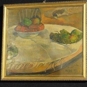Quadro di Gauguin appeso nella cucina di un ex operaio