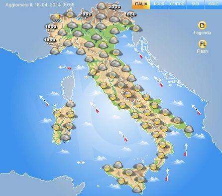 Meteo per il week end di Pasqua, Italia divisa in due