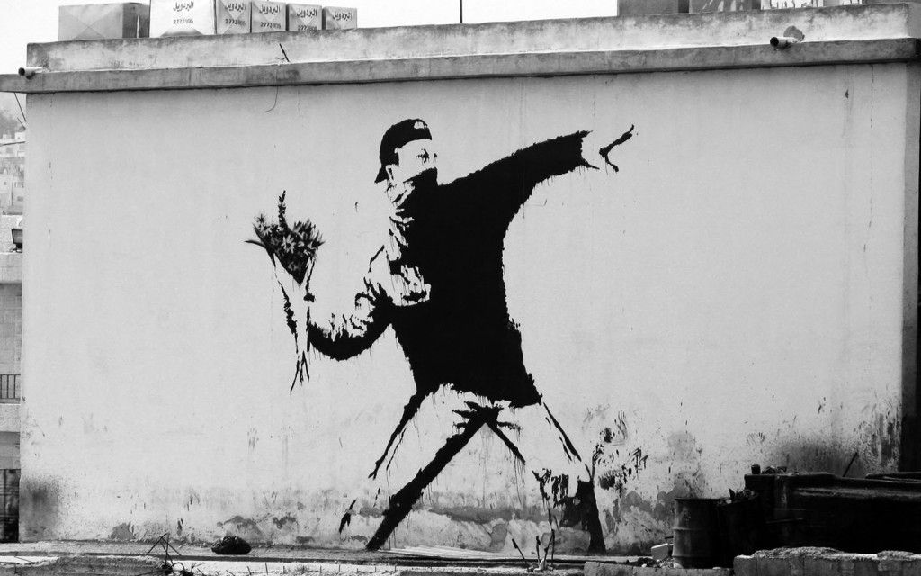 I murales di Banksy in versione animata