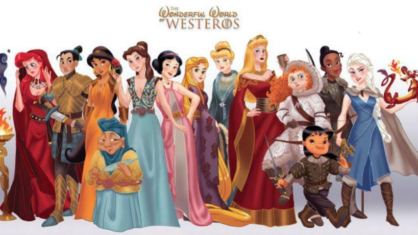 Game of Thrones, se la Disney disegnasse i protagonisti della serie tv