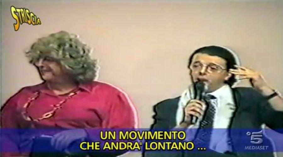Matteo Renzi imita Silvio Berlusconi nel 1996: stesso look, stesse mosse