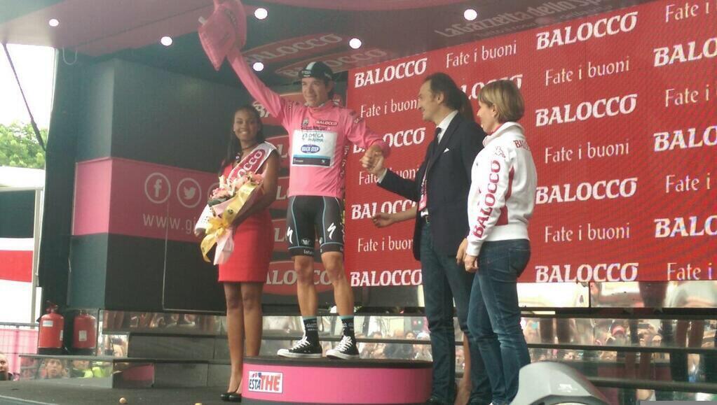 Giro d'Italia 2014, 12ma tappa: crono e maglia Rosa a Rigoberto Uran