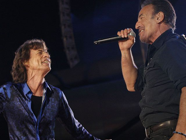 Rolling Stones Bruce Springsteen duetto Lisbona