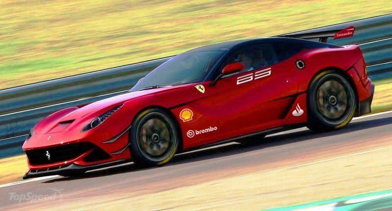 Ferrari F12XX Berlinetta: render della versione per la pista