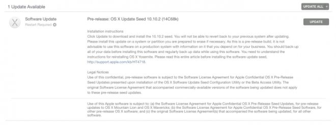 Aggiornamento OS X 10.10.2 Yosemite: Apple corre ai ripari