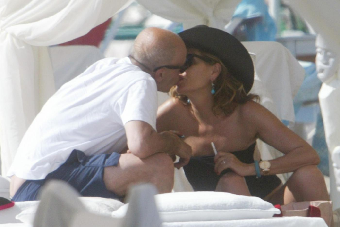 Daniela Santanche' e Alessandro Sallusti a Forte dei Marmi