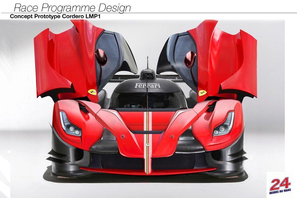 Ferrari LMP1: render dell'ipotetica vettura di Le Mans