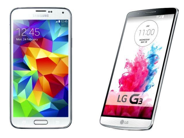 LG G3 vs Samsung Galaxy S5: scontro tra colossi