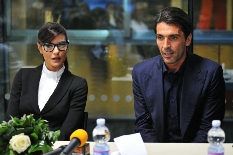 Gigi Buffon e Ilaria D'Amico prima dei mondiali 2014: l'incontro a Firenze