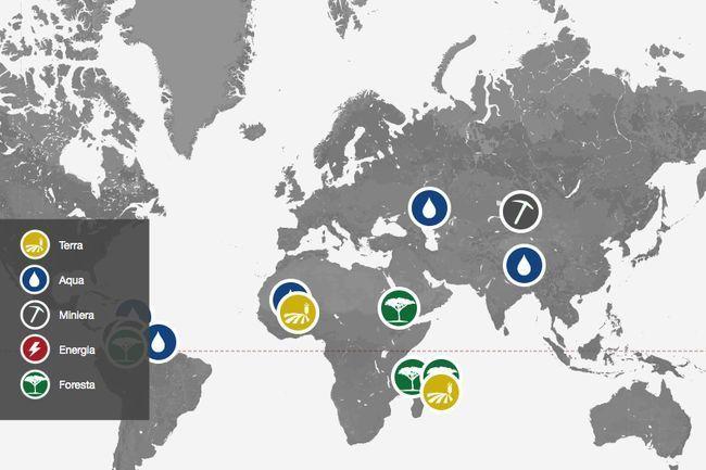 Battaglie per l'ambiente: la mappa che mostra tutte le azioni sulla lotta per le risorse