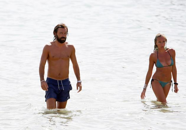 Andrea Pirlo e la fidanzata Valentina Baldini in vacanza a Ibiza