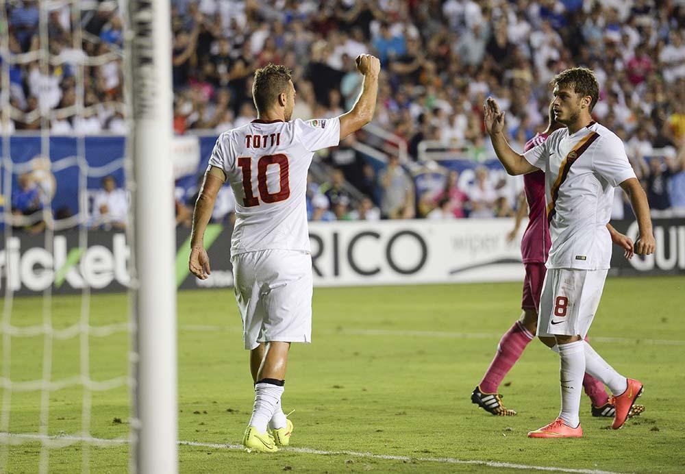 Roma vs Real Madrid 1-0: Totti stende i Blancos