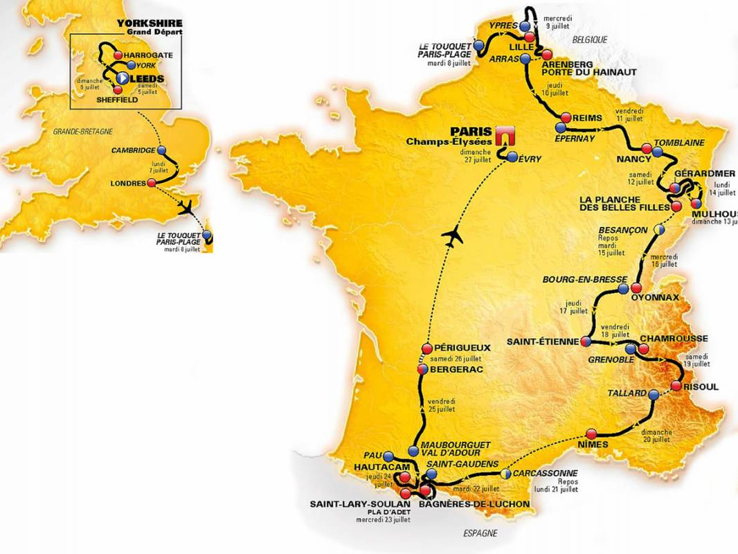 Tour de France 2014: tappe, percorso e favoriti