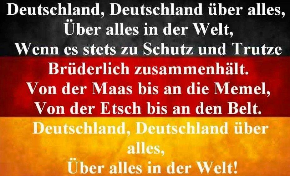 Uber Alles: significato fantasma per l'Italia, inno nazionale per la Germania