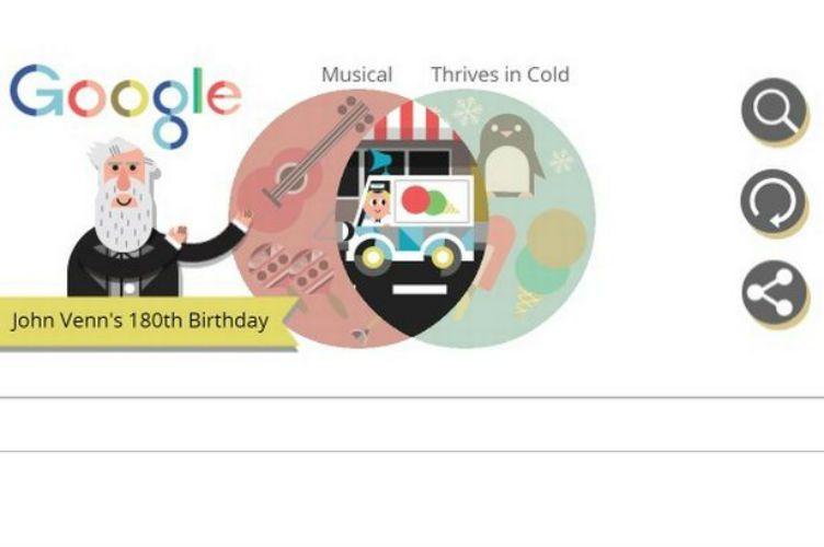 Google doodle: John Venn e il suo diagramma omaggiati dal motore di ricerca