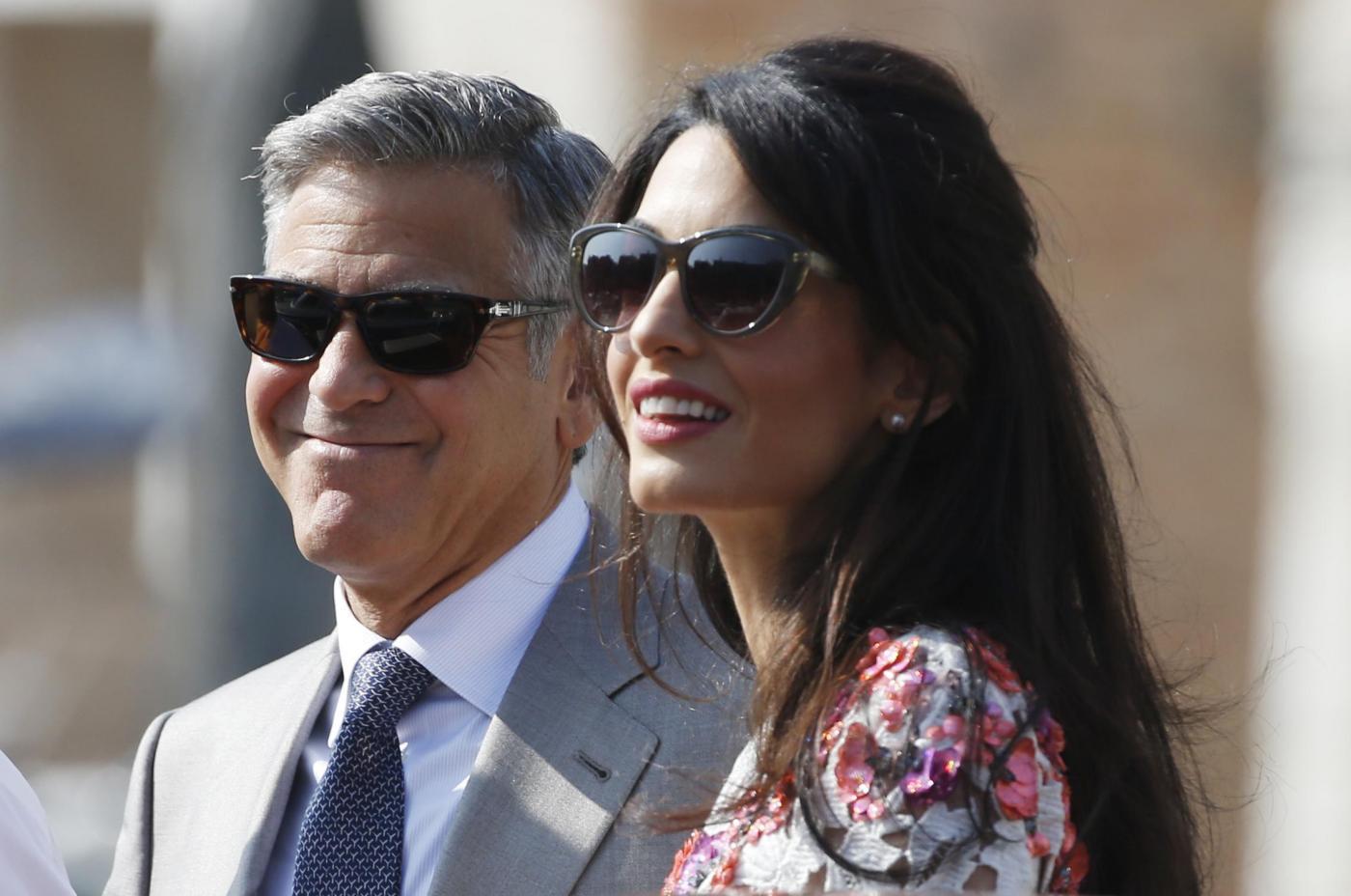 George Clooney e Amal Alamuddin sposi: la prima uscita pubblica dopo le nozze