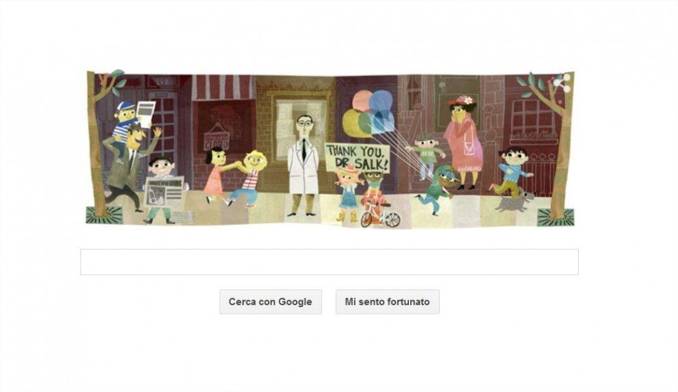 Google doodle per Jonas Salk: omaggio al medico che inventò il vaccino antipolio