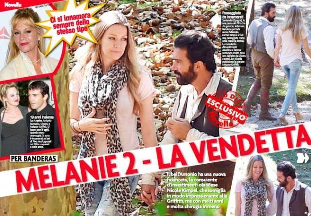 Antonio Banderas e la fidanzata Nicole