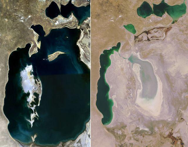 Lago Aral: era il quarto più grande del mondo, ora è quasi scomparso