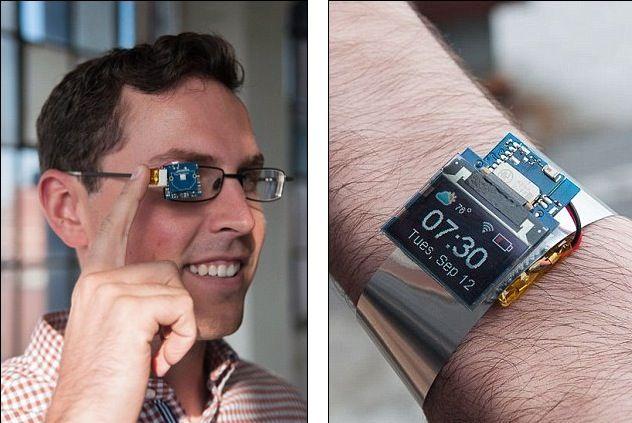 Tiny Screen diventa smartwatch o Google Glass e costa 20 dollari