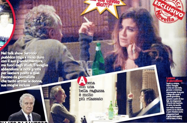 Marco Travaglio e Veronica Gentili: il giornalista si consola dopo il litigio con Santoro