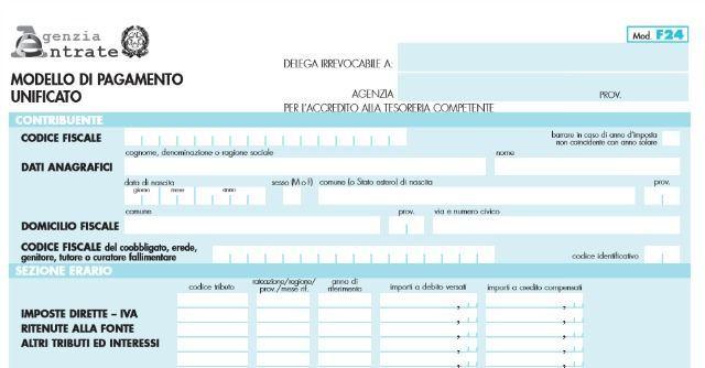 Modello F24 telematico, obbligo per i pagamenti sopra i mille euro
