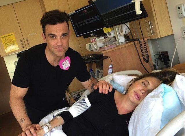 Robbie Williams papà sala parto