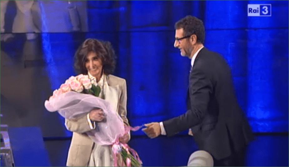 Che tempo che fa, Anna Marchesini scherza da Fabio Fazio: 'Vorrei essere cremata'