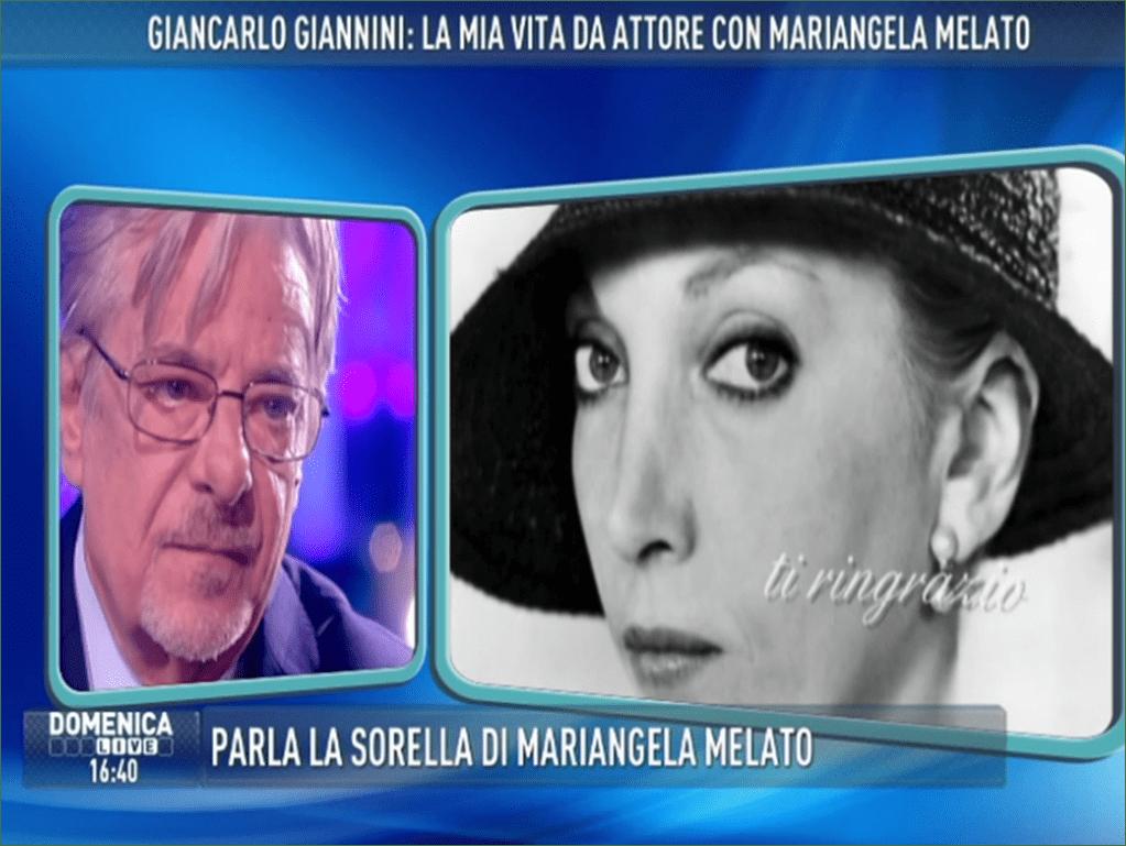 Giancarlo Giannini a Domenica Live: 'Mariangela Melato straordinaria, io e lei fratello e sorella