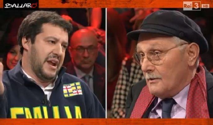 Lite a Ballarò tra Matteo Salvini e Antonio Pennacchi